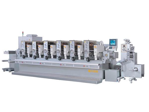 轮转印刷机_间歇式(全轮转)不干胶商标印刷机